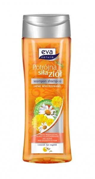 Eva natura potrójna siła ziół szampon rumianek