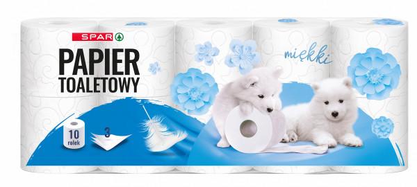 Spar papier toaletowy 3 warstwowy 10 rolek