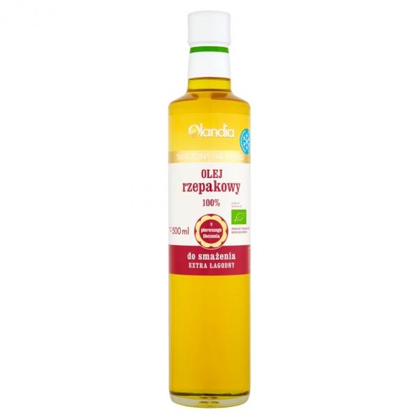 Olandia Olej rzepakowy 100% do smażenia 500 ml