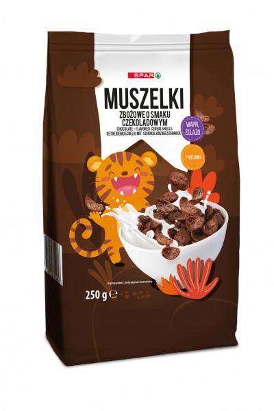 Spar płatki muszelki czekoladowe