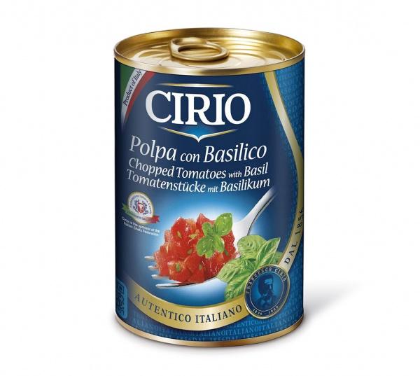 Pomidory w kawalkach z bazylią cirio