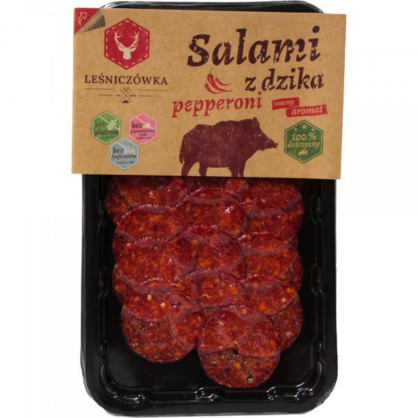 Salami pepperoni z dzika plastry