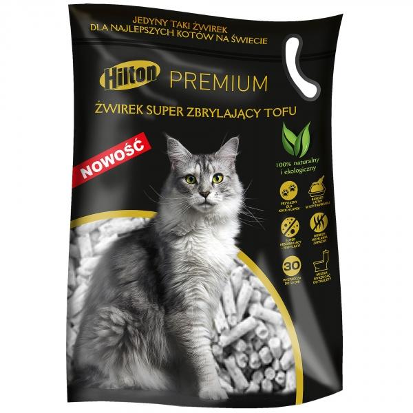 Hilton żwirek super zbrylający tofu 2,5kg dla kota
