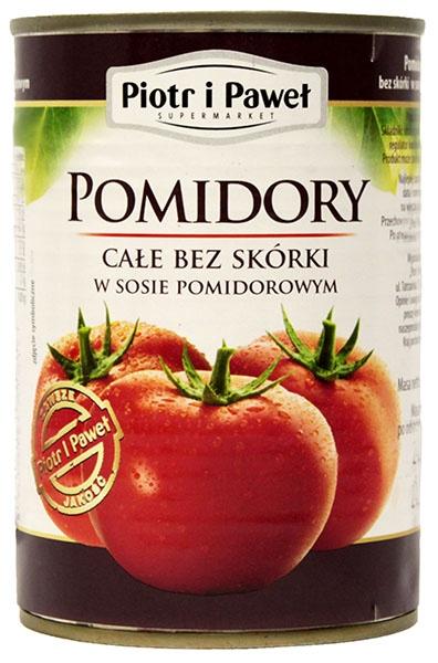 Pomidory Piotr i Paweł całe bez skórki