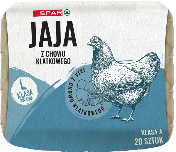 Spar jaja z chowu klatkowego l 20 szt