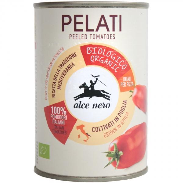 Pomidory pelati bez skóry w puszce bio.