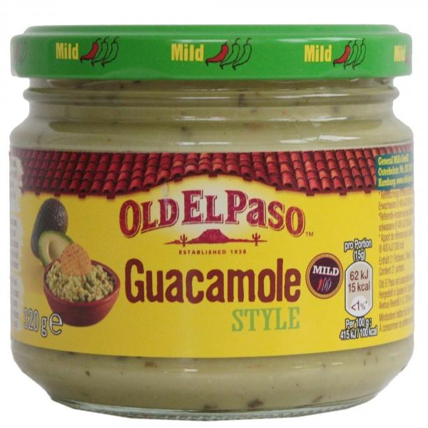 Łagodny dip guacamole