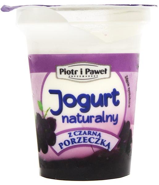 Jogurt czarna porzeczka Piotr i Paweł