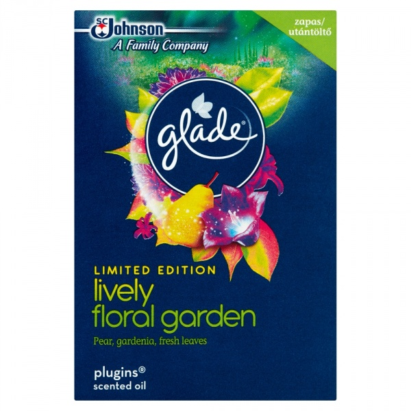 Glade by brise electric z płynem lively floral garden - zapas