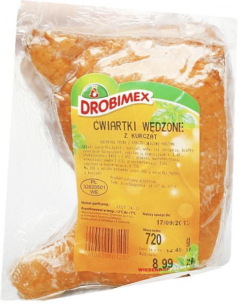 Ćwiartka wędzona z kurcząt - vac DROBIMEX