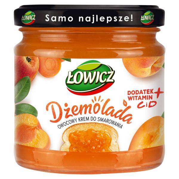 Dżemolada Łowicz owocowy krem do smarowania pomarańczowy