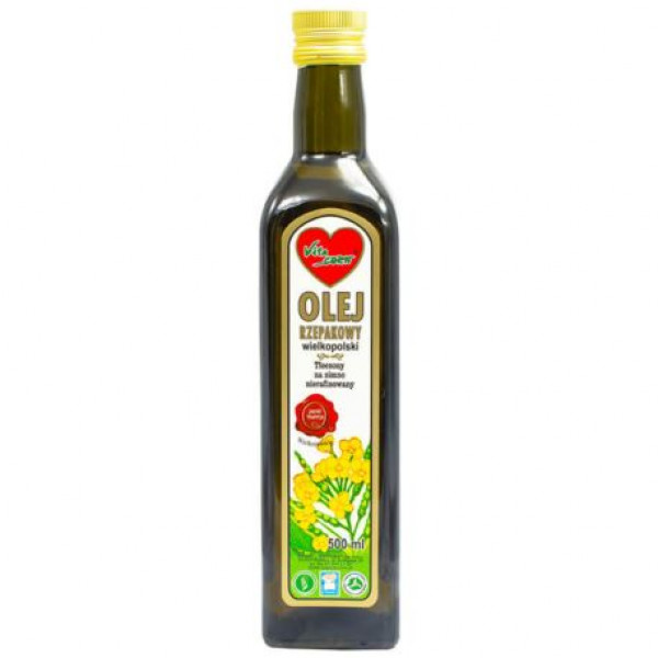 Olej rzepakowy tłoczony na zimno