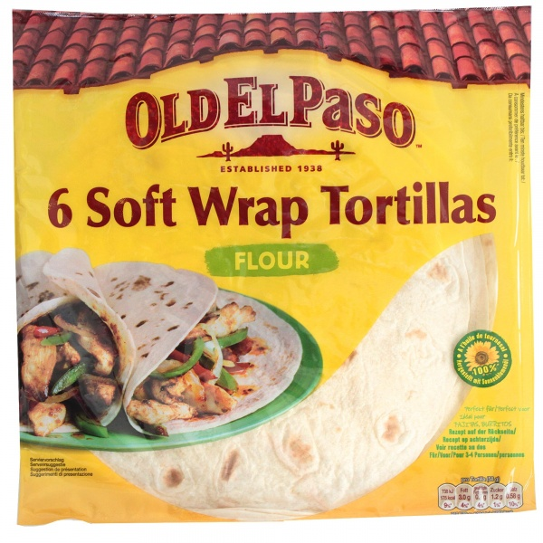 Wrap tortilla.