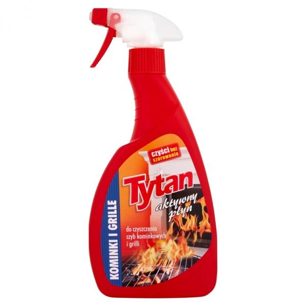 Płyn do czyszczenia szyb kominkowych i grilli tytan spray