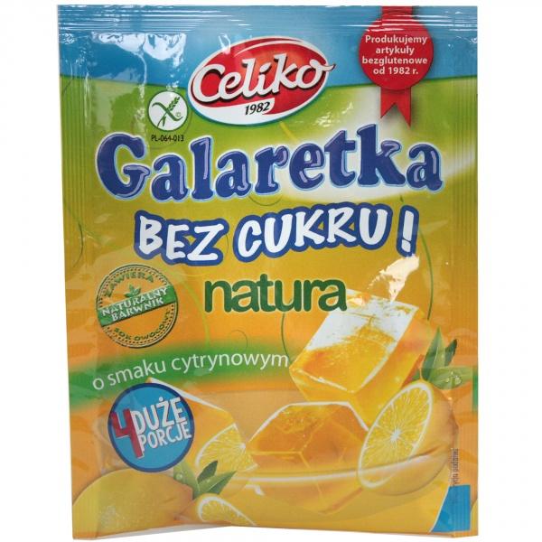 Galaretka bez cukru o smaku cytrynowym