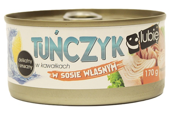 Tuńczyk kawałki w sosie własnym - lubię:)