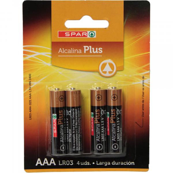 Spar baterie alkaliczne plus lr03 aaa 1,5v 4szt