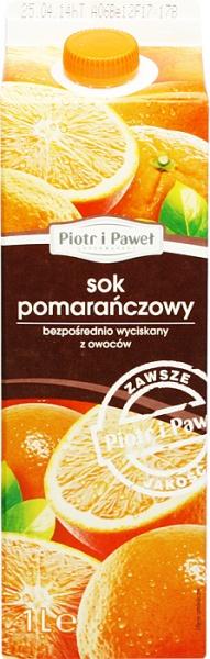 Sok pomarańczowy bezpośredni Piotr i Paweł