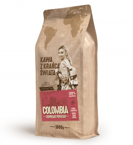 Kawa z krańca swiata columbia supremo popayan