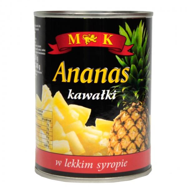 Ananas kawałki 565g
