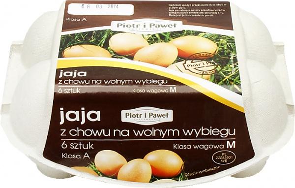 Jaja z chowu na wolnym wybiegu M Piotr i Paweł