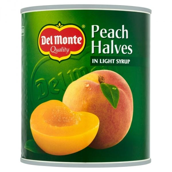 Brzoskwinie połówki w syropie  Del Monte