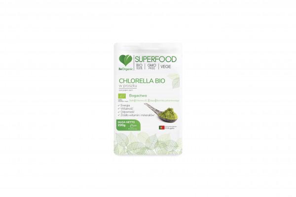 Superfood chlorella w proszku bio 200g
