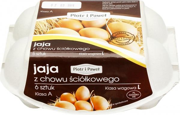 Jaja z chowu ściółkowego L Piotr i Paweł