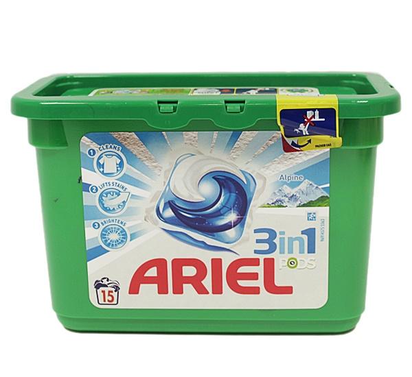 Ariel 3in1 Alpine kapsułki do prania /15szt.