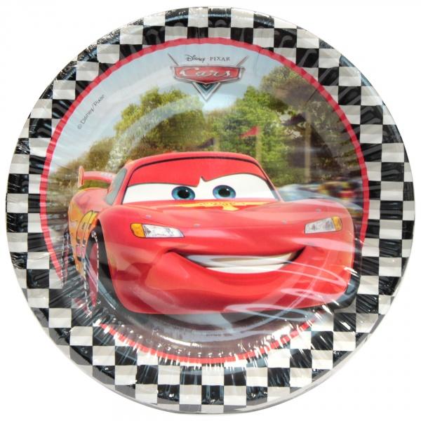Talerzyki papierowe - Cars formula 20 cm