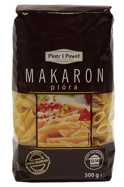 Makaron Piotr i Paweł pióra