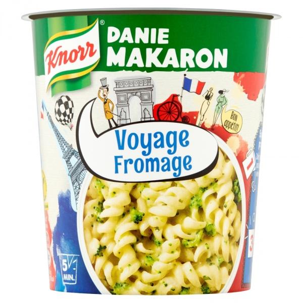 Danie makaron z sosem serowym i brokułami Knorr