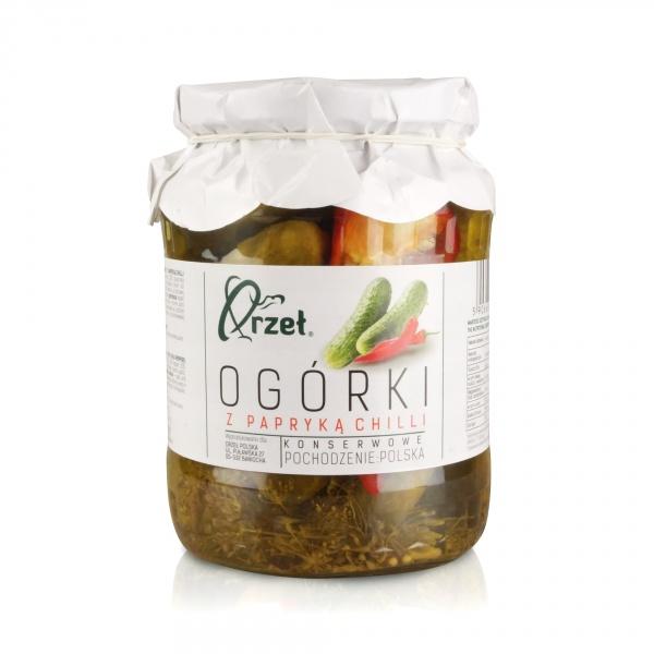 Ogórki konserwowe Orzeł z chilli