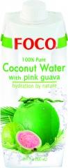 Woda kokosowa Foco z guawą