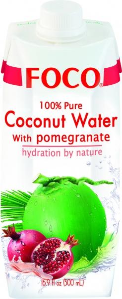 Woda kokosowa z granatem
