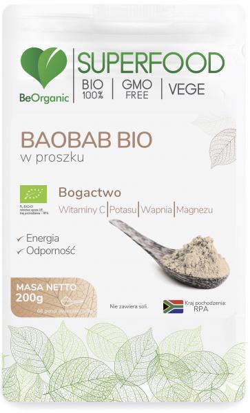 Superfood baobab w proszku bio 200g