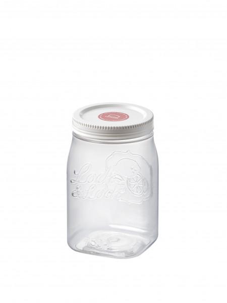 Pojemnik plastikowy kwadratowy zakręcony 750 ml