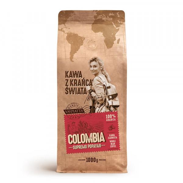 Kawa z krańca swiata columbia supremo popayan 1kg/szt