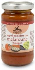 Ekologiczny sos pomidorowy z dodatkiem grillowanego bakłażana