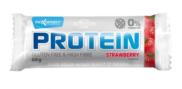 Baton proteinowy o smaku truskawkowym