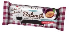 Batonik z twarożku w czekoladzie z suszonymi śliwkami