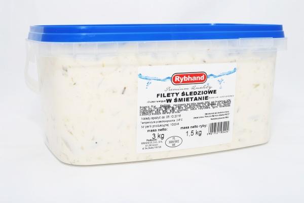 Filet śledziowy w śmietanie Rybhand