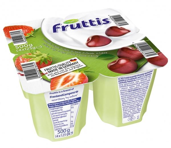 Deser frutis truskawka wiśnia.
